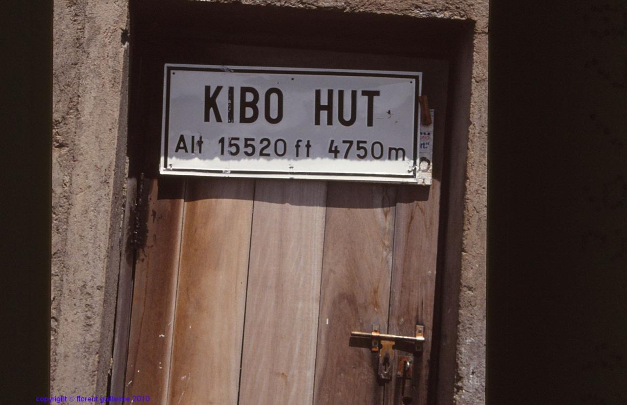 Arrivée au refuge de Kibo
