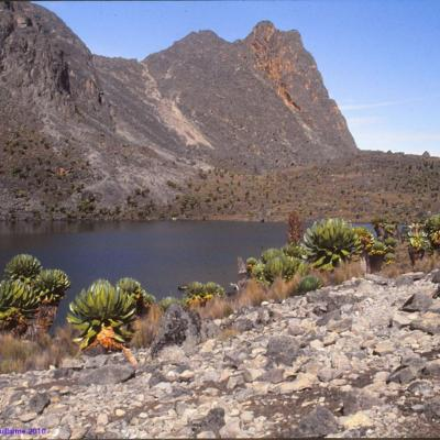 Lac d'altitude, massif du Mont Kenya
