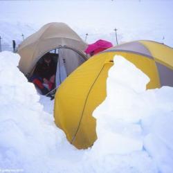 Campement, Mont Mac Kinley, Alaska