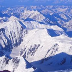 Alaska Range, vue depuis le sommet du Mac Kinley