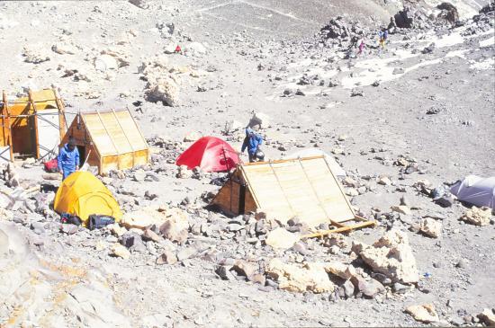 Camp de Berlin, avant le sommet de l' Aconcagua