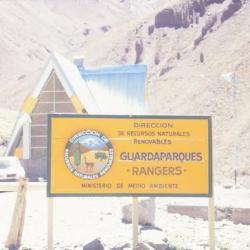 Entrée du Parc National de l' Aconcagua, Argentine