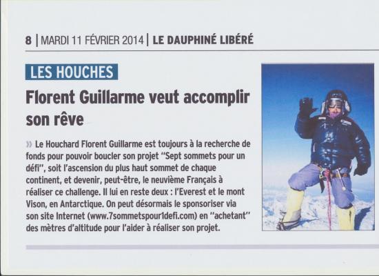 Dauphiné Libéré 11 02 2014