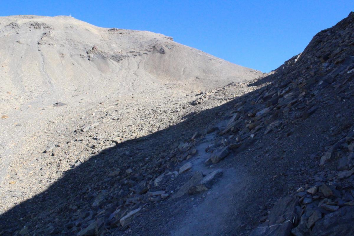 Dernière partie d'ascension du mont Buet