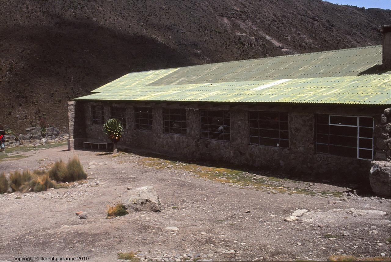 Le refuge de Shiptons, à 4200 mètres