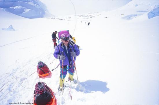Progression sur glacier