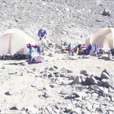 Camp de Base du Cerro Plomo, Chili