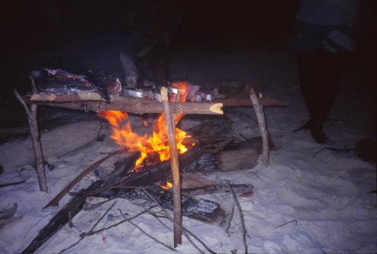 Barbecue sur la plage