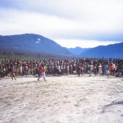 Acceuil papou, province de l' Irian Jaya, Papouasie